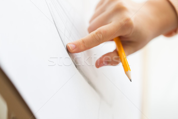 художник карандашом рисунок фотография искусства студию Сток-фото © dolgachov