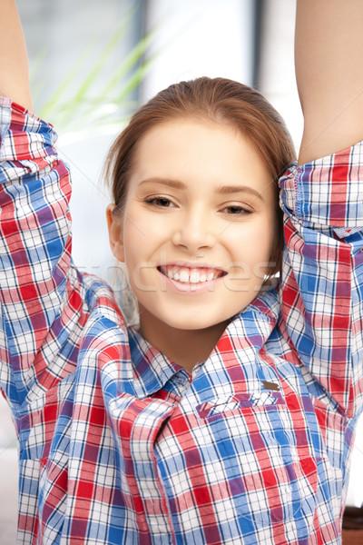 удивление ярко фотография счастливым женщину Новости Сток-фото © dolgachov