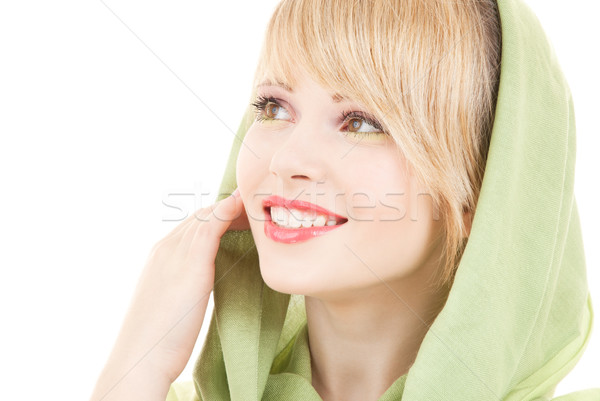 green kerchief Stock photo © dolgachov