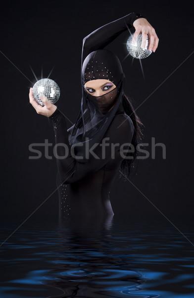 Ninja dançar festa dançarina vestir discoteca Foto stock © dolgachov
