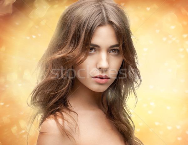 Stockfoto: Mooie · vrouw · heldere · portret · foto · vrouw