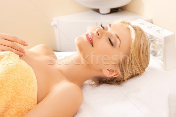 Femeie frumoasa spa salon imagine femeie corp Imagine de stoc © dolgachov