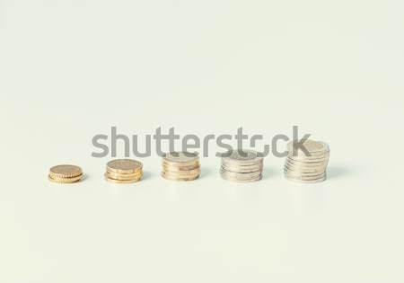 монетами один фотография бизнеса Сток-фото © dolgachov