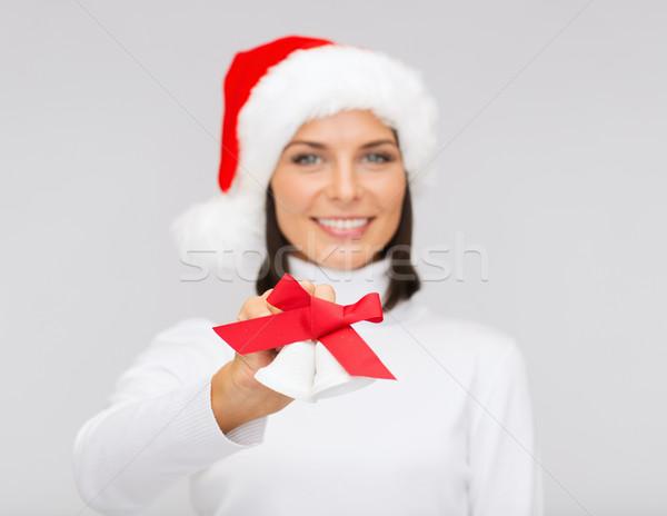 女性 サンタクロース ヘルパー 帽子 クリスマス クリスマス ストックフォト © dolgachov