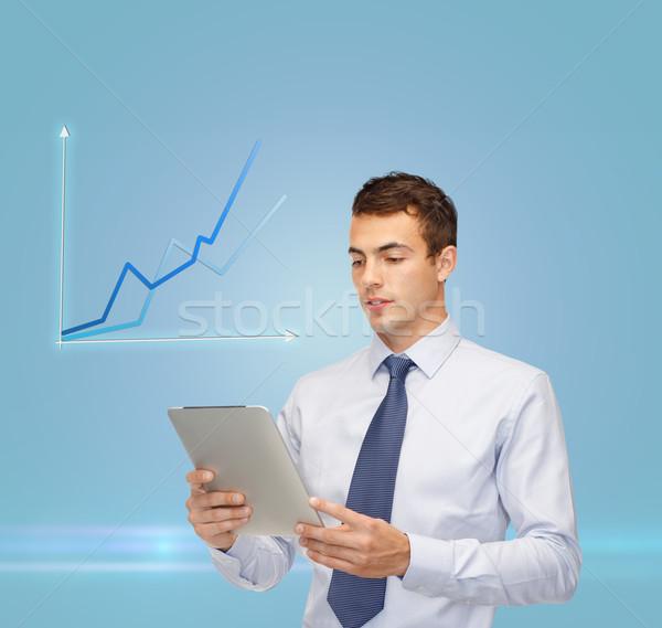 Gráfico negocios comunicación moderna tecnología Foto stock © dolgachov