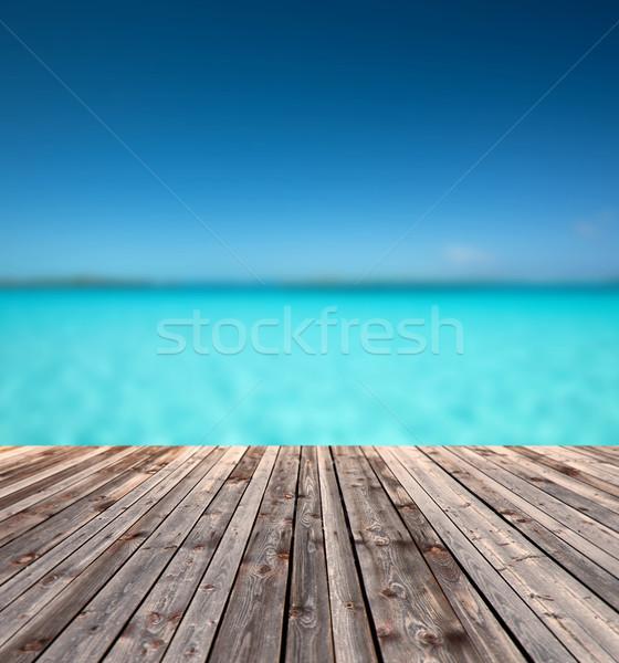 Stockfoto: Blauw · zee · textuur · water · landschap