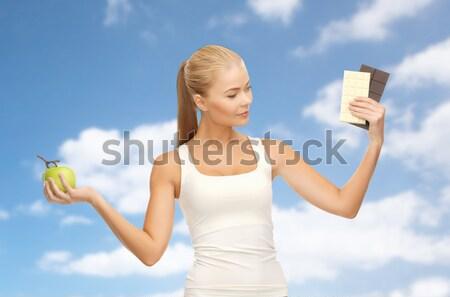 スポーティー 女性 上腕二頭筋 フィットネス 医療 ストックフォト © dolgachov