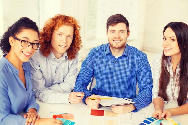 Foto stock: Equipe · cor · diagrama · escritório · negócio