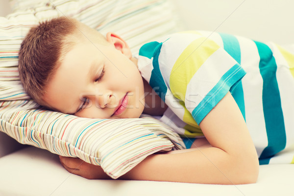 little boy sleeping at home Stock photo © dolgachov
