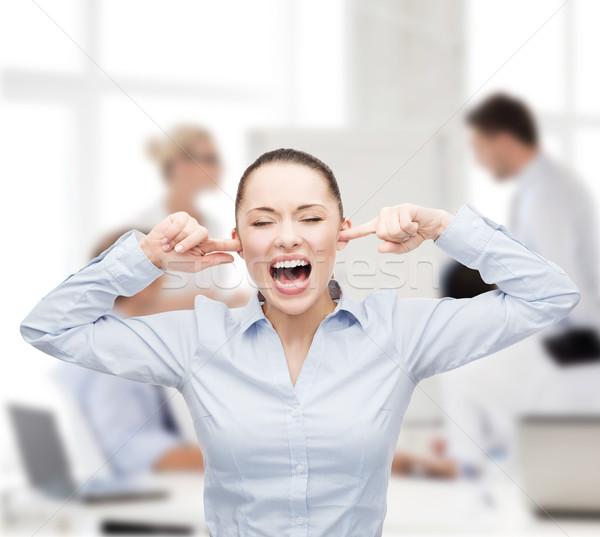 öfkeli çığlık atan işkadını iş ofis stres Stok fotoğraf © dolgachov
