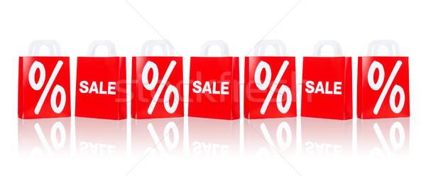 Veel Rood verkoop percentage Stockfoto © dolgachov
