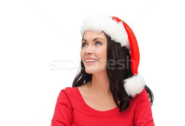 şaşırmış kadın yardımcı şapka Stok fotoğraf © dolgachov