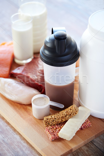 Natuurlijke eiwit voedsel sport fitness Stockfoto © dolgachov