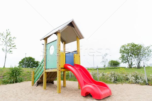 スライド 遊び場 屋外 幼年 オブジェクト ストックフォト © dolgachov