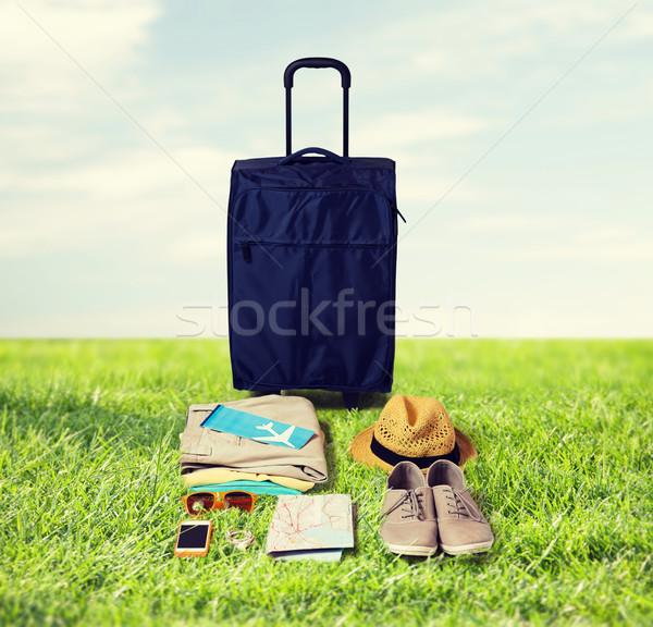 Viaje bolsa personal vacaciones vacaciones de verano turismo Foto stock © dolgachov