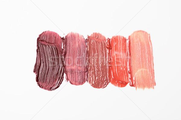close up of lipstick smear sample Stock photo © dolgachov