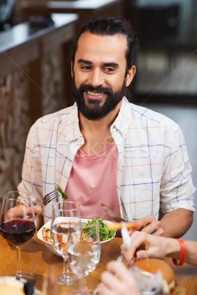 Сток-фото: счастливым · человека · обеда · ресторан · отдыха · продовольствие