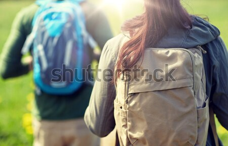 close up of lesbian couple over thailand beach Stock photo © dolgachov