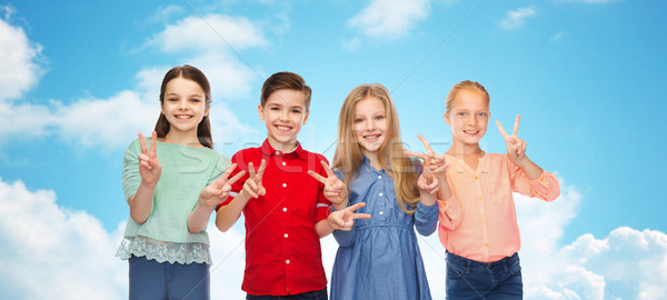女の子 平和 印相 幼年 ストックフォト © dolgachov