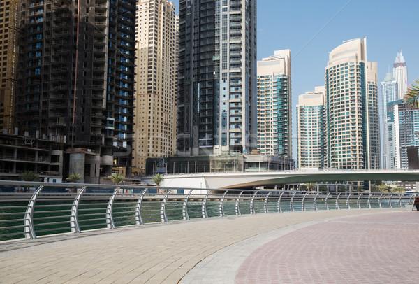 Dubai città centro grattacieli ponte cityscape Foto d'archivio © dolgachov