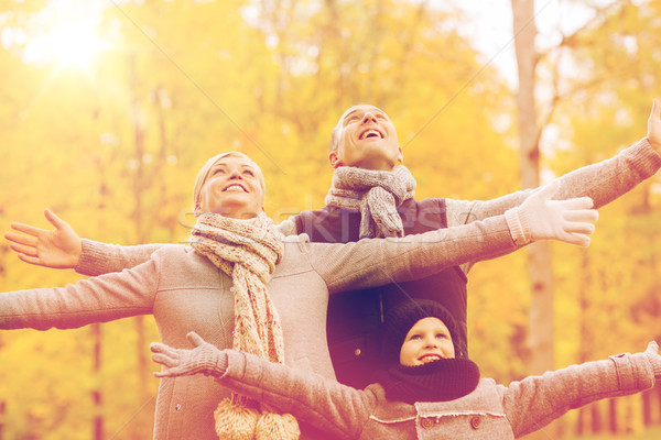 Stockfoto: Gelukkig · gezin · najaar · park · familie · jeugd