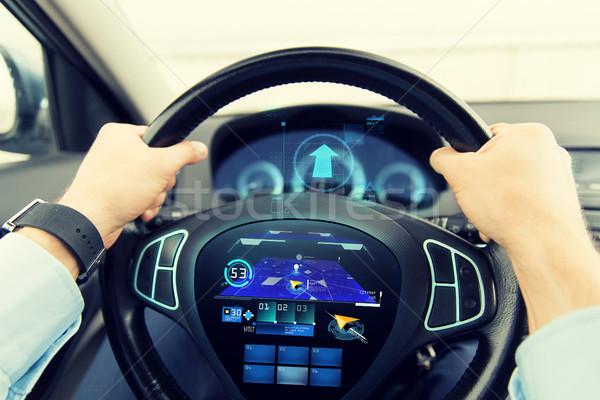 человека вождения автомобилей GPS транспорт Сток-фото © dolgachov