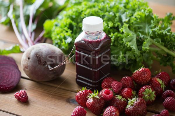 Stok fotoğraf: şişe · pancar · meyve · suyu · meyve · sebze · sağlıklı · beslenme