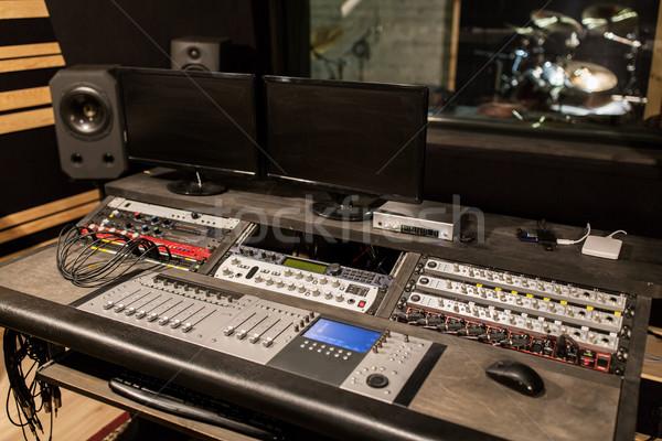 Zene konzol hang zenei stúdió technológia elektronika Stock fotó © dolgachov