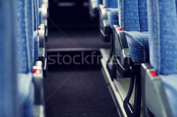 Stockfoto: Reizen · bus · interieur · vervoer · toerisme · weg