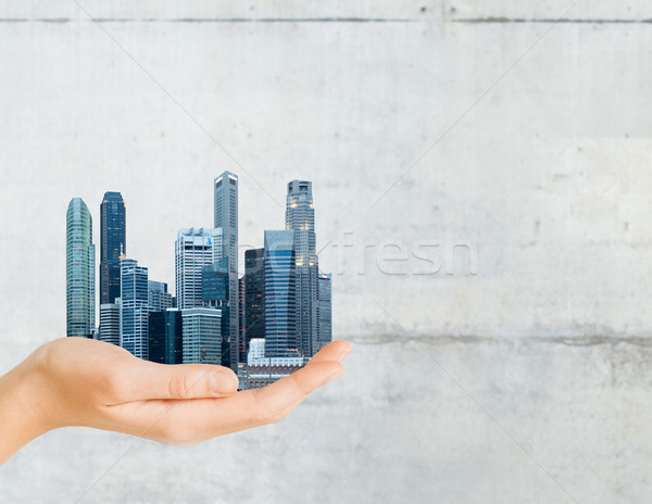 Mano ciudad gris concretas arquitectura Foto stock © dolgachov
