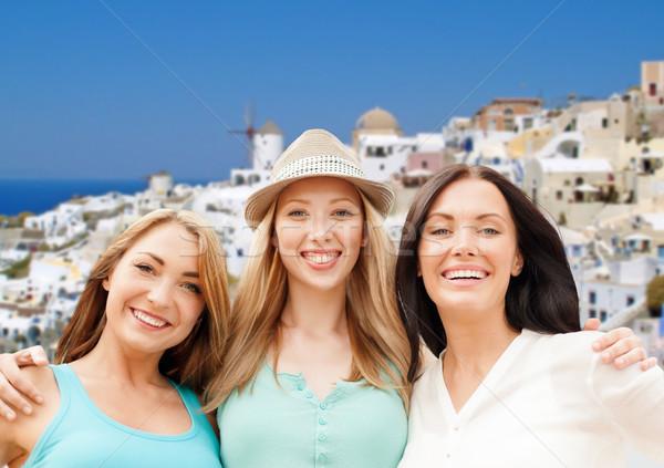 幸せ 女性 サントリーニ 島 旅行 観光 ストックフォト © dolgachov