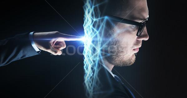 Biznesmen strony faktyczny sieci business network Zdjęcia stock © dolgachov