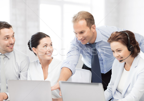 group of people working in call center Stock photo © dolgachov