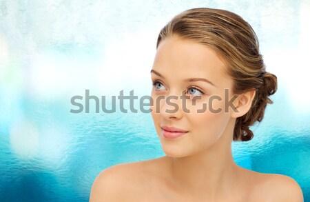 Kobieta błyszczący diament piękna biżuteria Zdjęcia stock © dolgachov