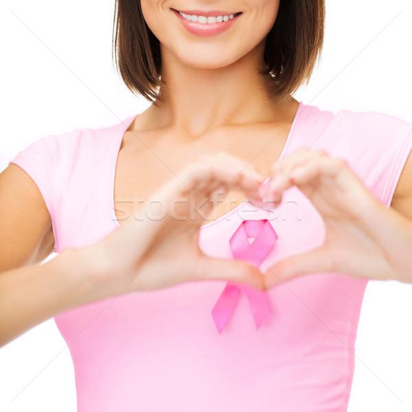 女性 ピンク がん リボン 医療 薬 ストックフォト © dolgachov