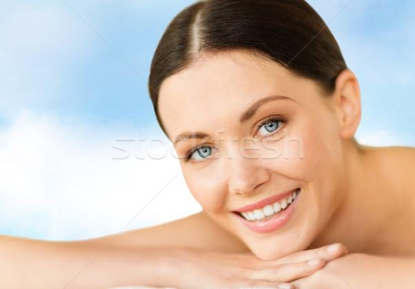 Nő fürdő egészség szépség üdülőhely pihenés Stock fotó © dolgachov