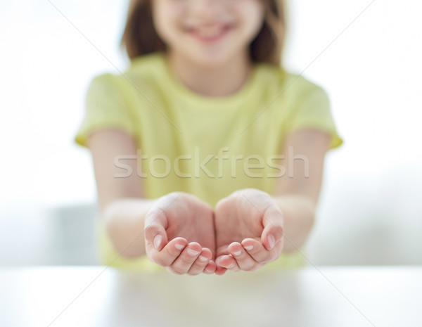 close up of child cupped hands Stock photo © dolgachov