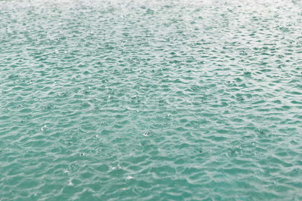 water surface with raindrops at rainy day Stock photo © dolgachov
