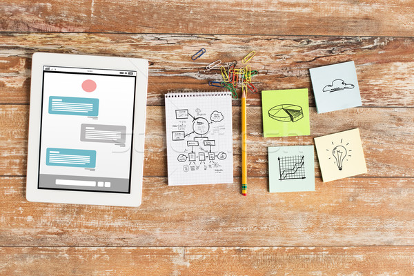 Notebook stickers business multimedia Stockfoto © dolgachov