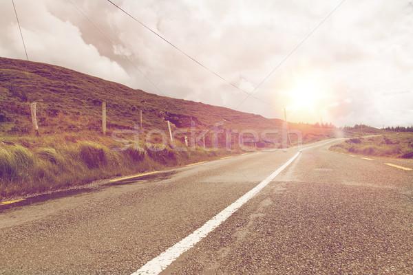 асфальт дороги Ирландия путешествия лет Сток-фото © dolgachov