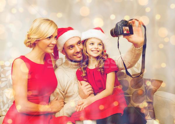 Sorridente família ajudante Foto stock © dolgachov