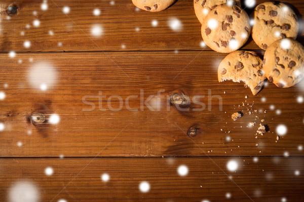 Avena cookies tavolo in legno cottura cottura Foto d'archivio © dolgachov