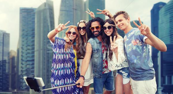 Hippie amigos vara férias de verão viajar Foto stock © dolgachov