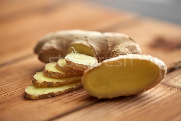 Сток-фото: имбирь · корень · деревянный · стол · науки · кулинарный
