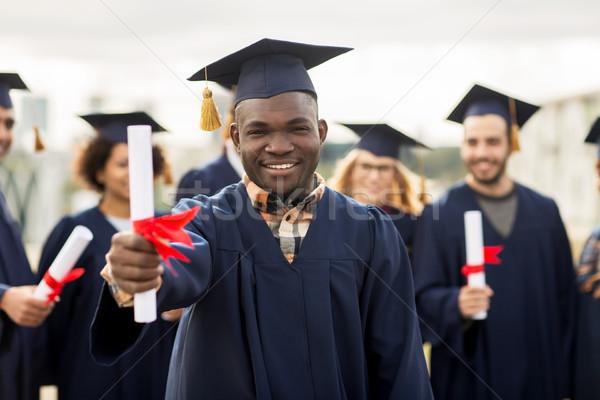 Photo stock: Heureux · élèves · éducation · graduation · personnes · groupe
