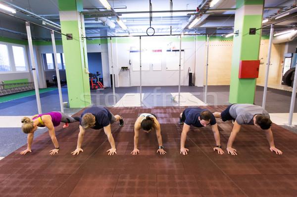 Stok fotoğraf: Grup · insanlar · egzersiz · spor · salonu · uygunluk · spor · eğitim