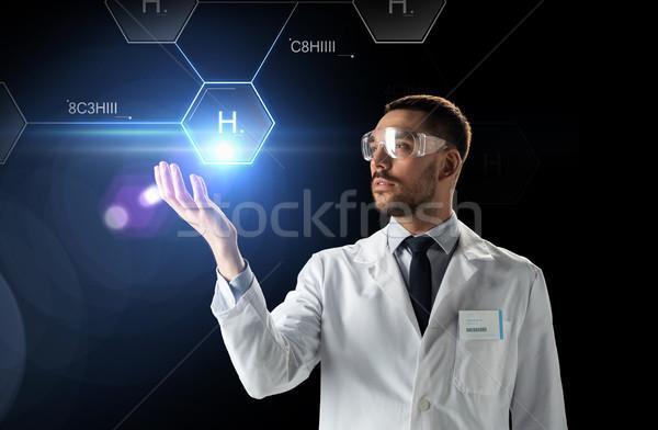 科学 ラボ ゴーグル 化学 式 科学 ストックフォト © dolgachov