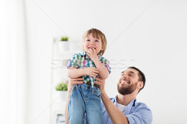 happy family father and son Stock photo © dolgachov