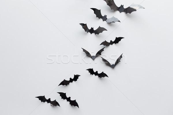 Negro papel blanco halloween decoración miedo Foto stock © dolgachov