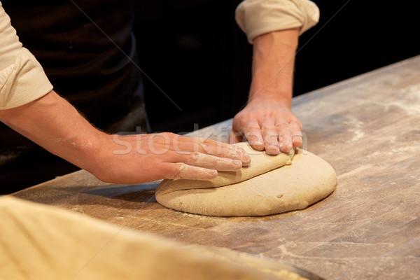 Chef bakker koken bakkerij voedsel Stockfoto © dolgachov
